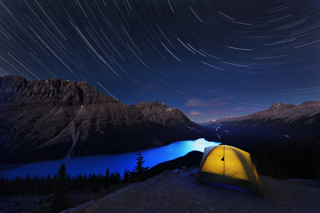 ... Peyto lake stars | by VictorLiu Photography & Peyto lake stars | I set up a tent on top of Bow summit andu2026 | Flickr