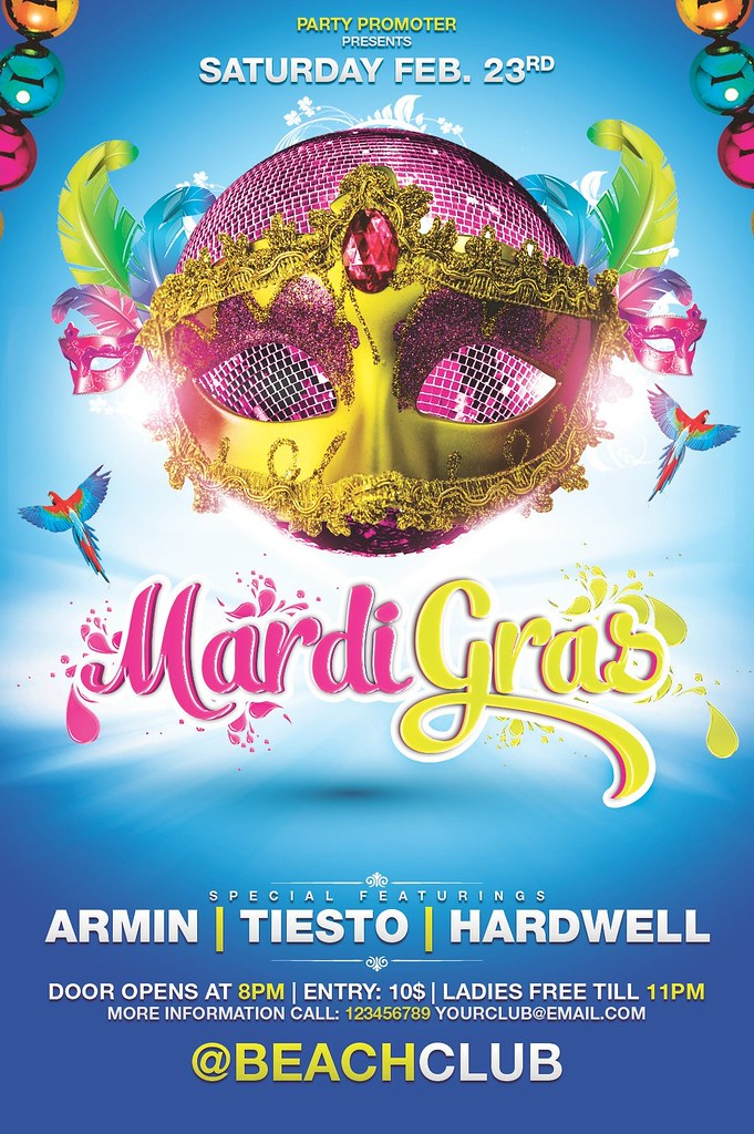Mardi Gras Flyer Template Link To Download This Flyer Desi Flickr