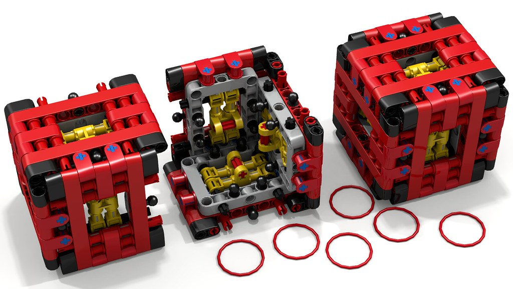 Lego Technic Puzzle Box By Aeh5040 Open And Closed Flickr