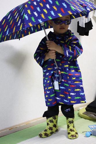 とらちゃんの雨の装備 2013/5