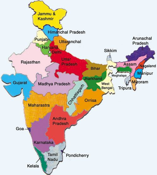 Map india political mrunal org flickr map india political by mrunal gumiabroncs Image collections