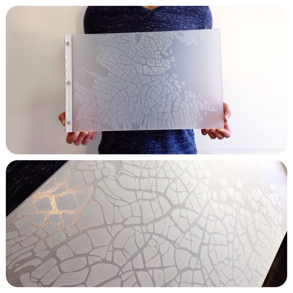 custom fashion design portfolio book with engraving treatm flickr