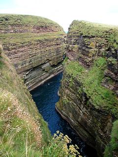041 Tweede diepe kloof bij Duncansby head