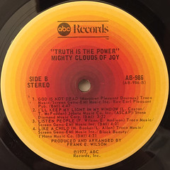 THE MIGHTY CLOUDS OF JOY:TRUTH IS THE POWER(LABEL SIDE-B)