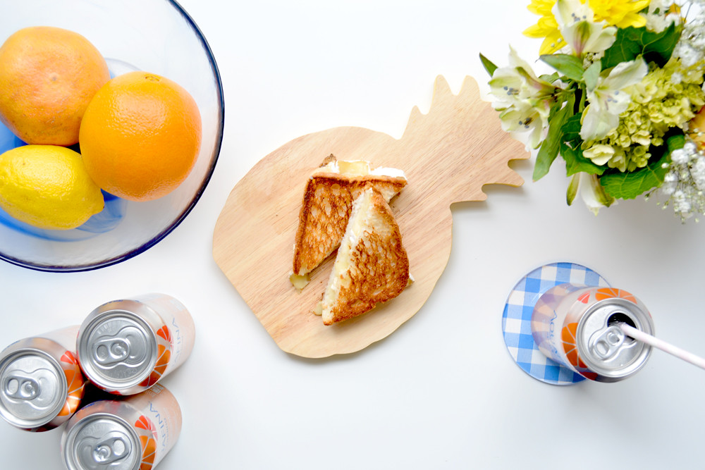 Brunch-Approved Citrus and Brie Grilled Cheese