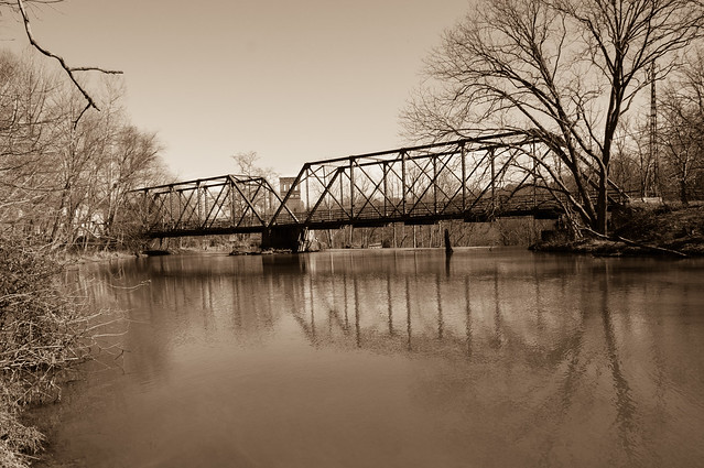 Mill pond - 3 (sepia)