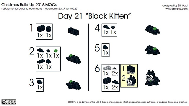 Day 21 Black Kitten Instructions