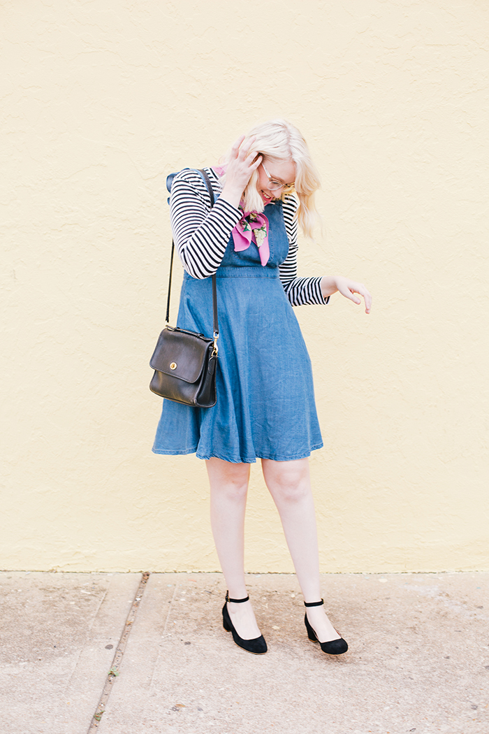 austin fashion blogger modcloth jumper striped shirt4