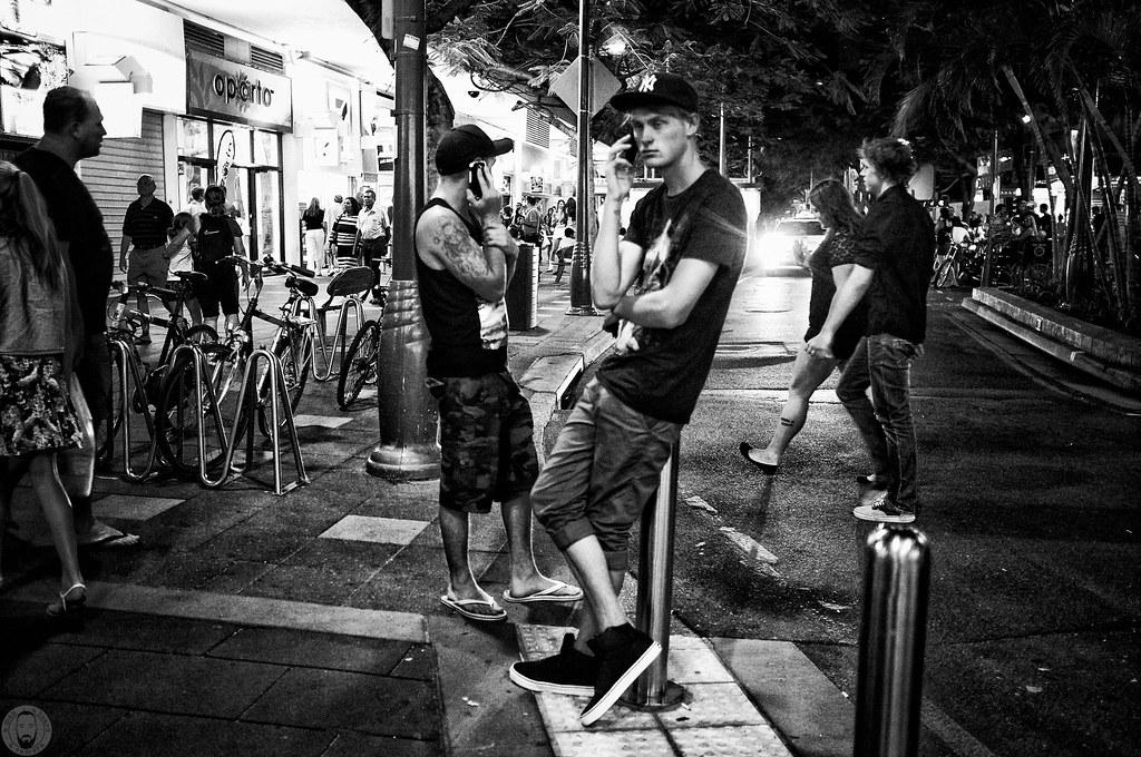 Paradise street photography black and white fuji