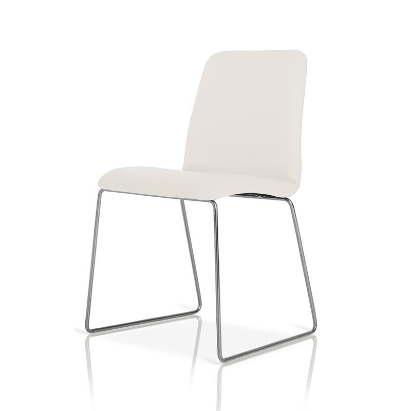 ... Modern Leatherette Dining Chair Furniture In White Color    VGGUHY173CH WHT   By Modern Miami