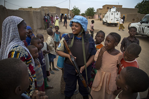 MINUSMA Police Unit on Patrol in Gao, Mali | by United Nations Photo
