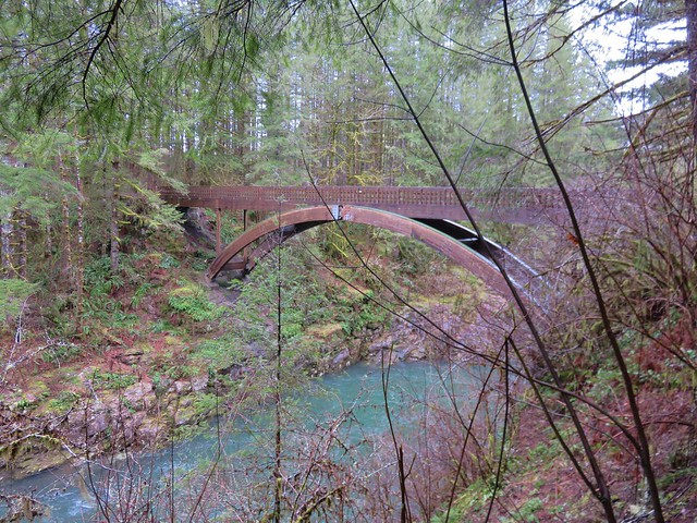 Footbridge over the East Fork Lewis River