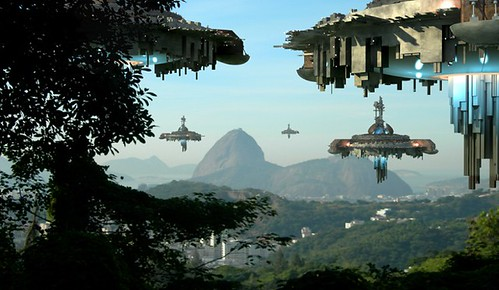 Alien-fleet-hovering-over-Earth