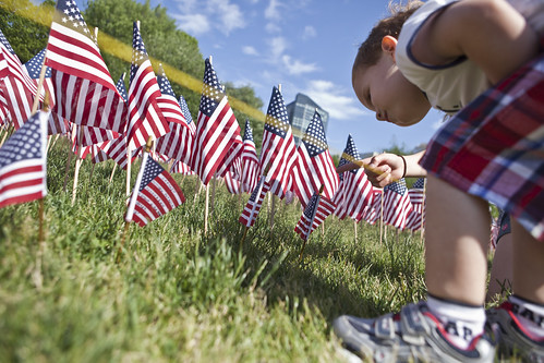 American Flags Planted in Boston Common | by Anthony Quintano