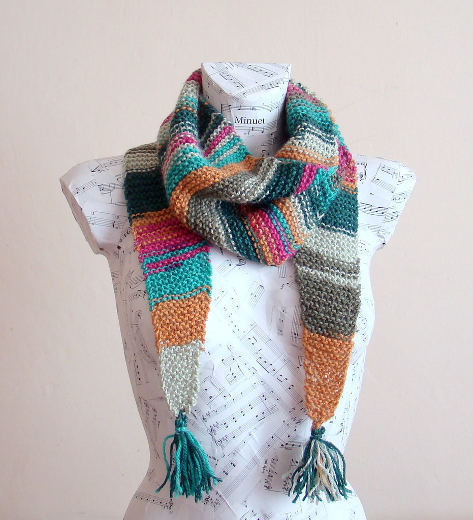 Hand Knitted Baktus Scarf Scarf Is One Of Crucial Accessor Flickr