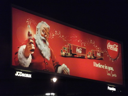 Great Charles Street Queensway - billboard - Coca Cola - I believe in you - Love, Santa | by ell brown