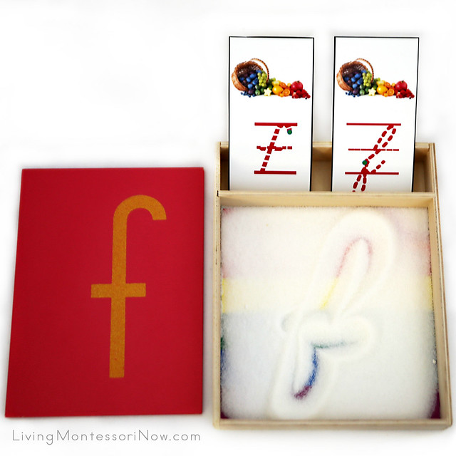 Rainbow Writing Tray with Fonts for f