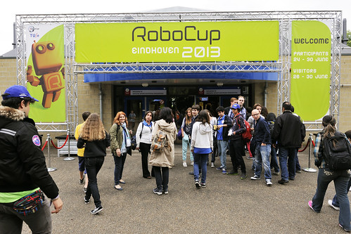 BvOF RoboCup2013 | the entrance of Indoor Sportcentrum ...