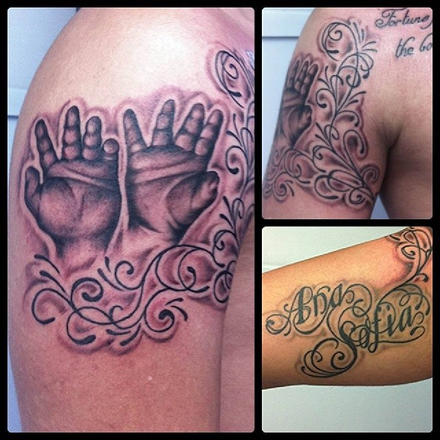 Manos Del Bebe Hands Tattoo Ta2 Tatuaje Ink Skin Flickr