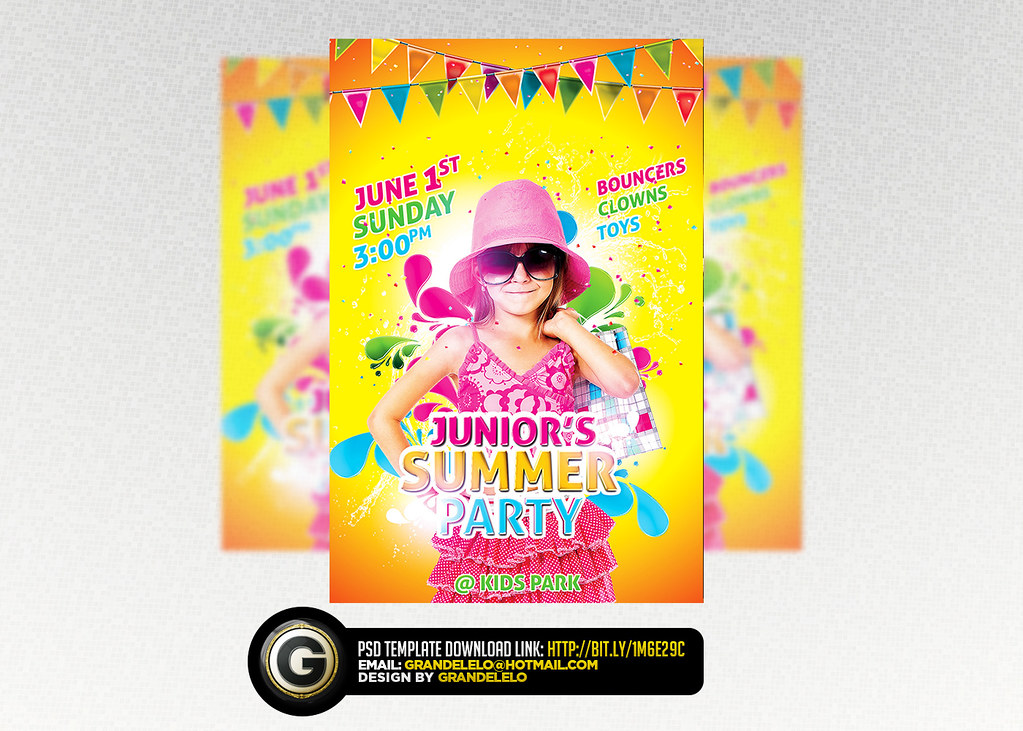 Kids Birthday N Summer Flyer Template Psd You Can Download Flickr