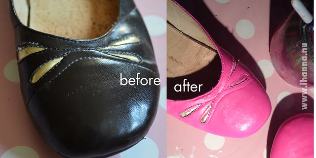 Altered / painted shoes before and after - by @ihanna #diyfashion