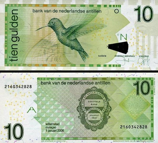 10 Guldenov Holandské Antily 2006, P28d