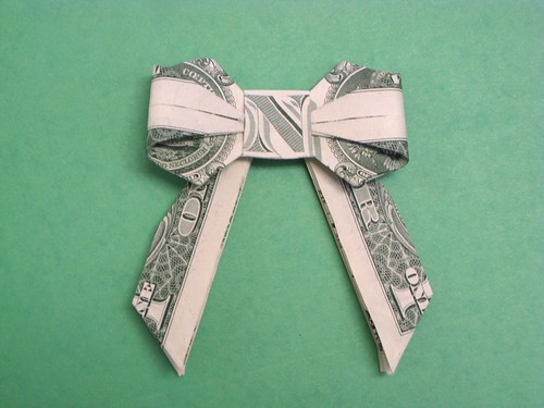How To Make An Origami Bow Tie With Money