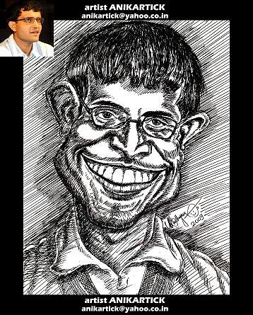 Caricatures celebrities and famous personalities caricatures pen drawings pencil drawings artist anikartick