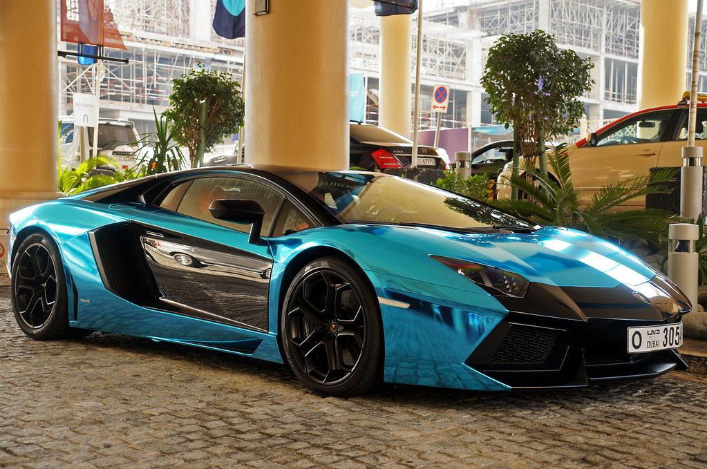 lamborghini aventador by marcinek_55 lamborghini aventador by marcinek_55 - Lamborghini Aventador Blue Chrome
