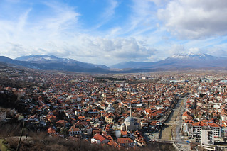 View over Prizren from the Kalaja fortress | by Timon91