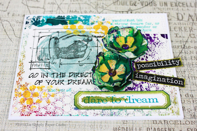 Meihsia Liu Simply Paper Crafts Mixed Media Card Dare to Dream Simon Says Stamp Tim Holtz 2