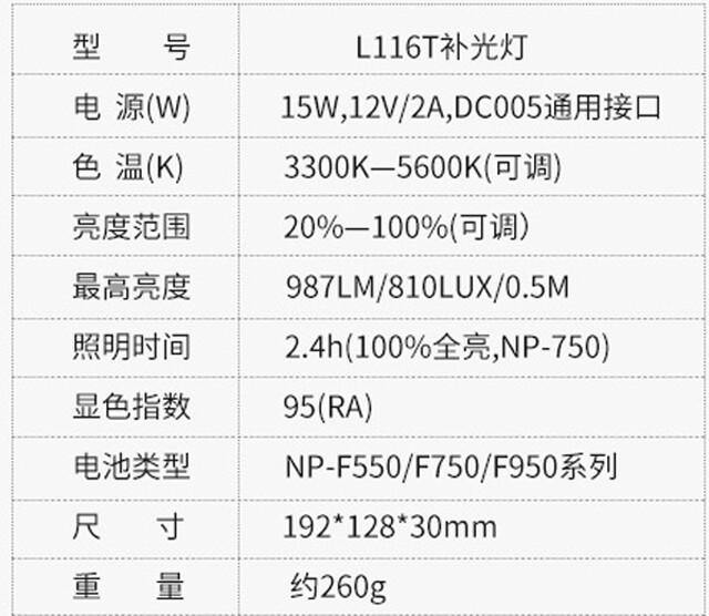 唯卓L116T規格