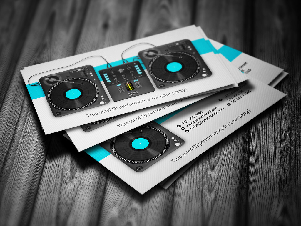 Turntablist DJ Business Card template | Turntablist DJ Busin… | Flickr