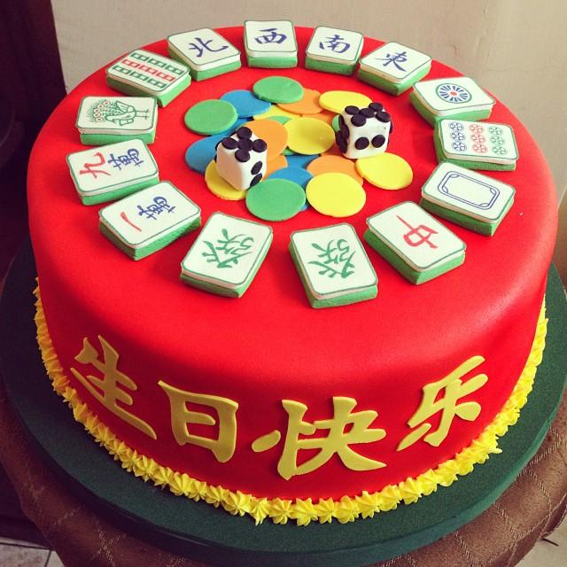 Mahjong Mahjongcake Cake Fondant Birthday Chocolate Flickr