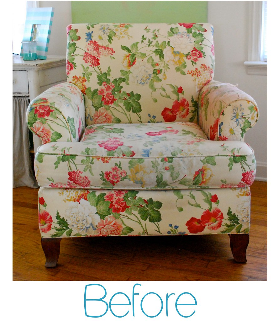 ... Before Floral Club Chair | By The Slipcover Girl