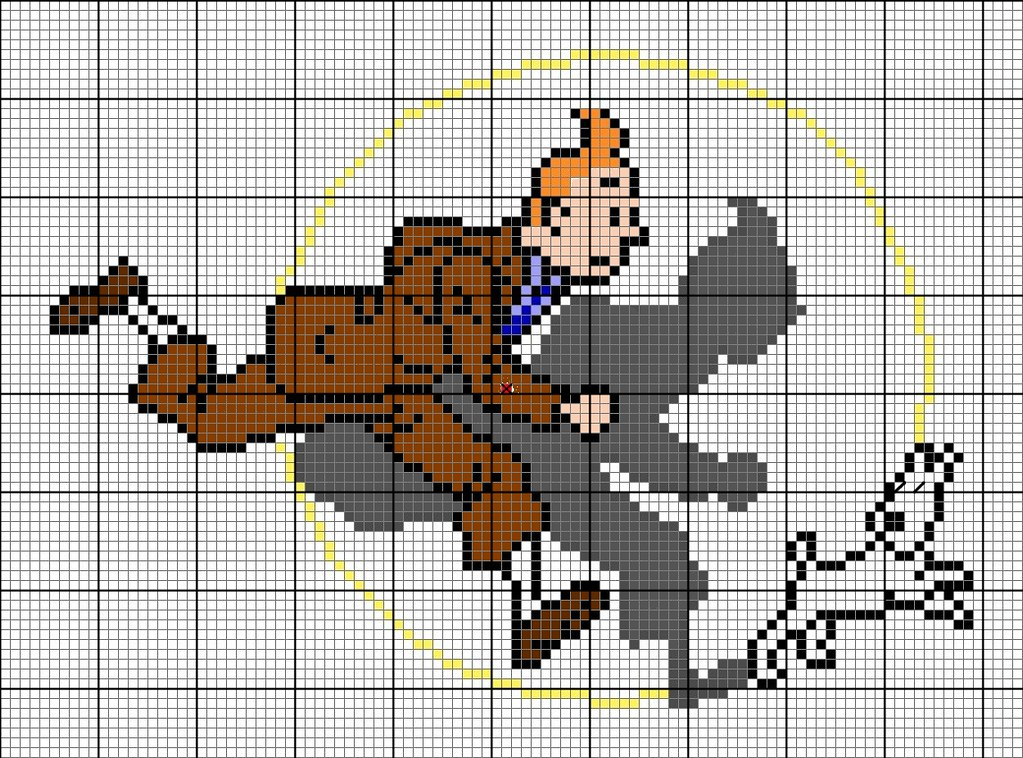 Floss Color Conversion Chart: Tintin Pattern 1 | Right click on image view at original siu2026 | Flickr,Chart