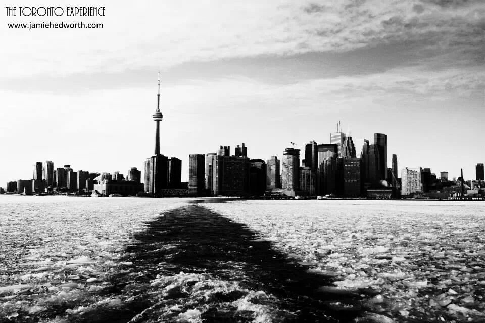 Toronto skyline in black white by jamie hedworth