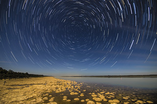 Star Trails over Lake Clifton's Thrombolites | by inefekt69