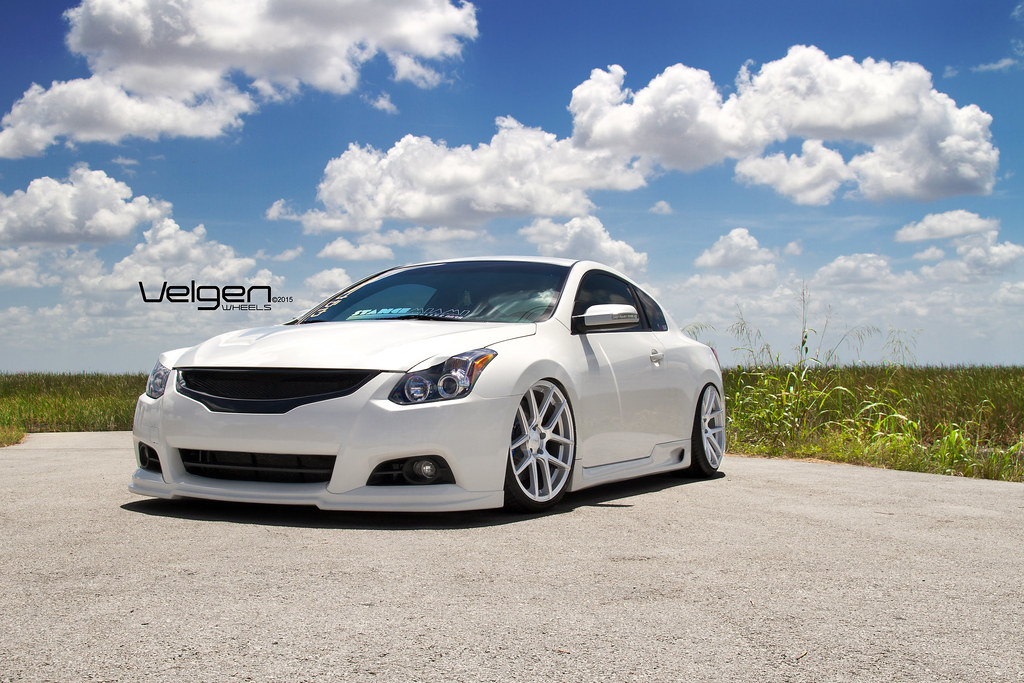 nissan altima coupe 2015. bagged nissan altima coupe on velgen wheels vmb5 matte silver 20x9 u0026 20x105 2015