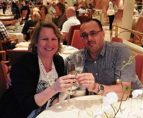 Toasting 25 years of marriage