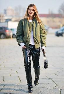 Chiara Capitani In Vinyl Pants Vinyl Beauties Flickr
