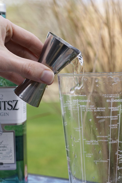 Jasmine Fizz Cocktail with gin