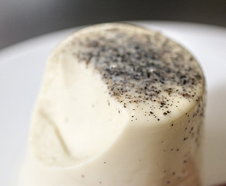 Black Pepper Panna Cotta (closeup) | by Elissa @ 17 and Baking
