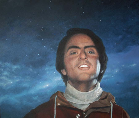 Carl Sagan 2004 portrait Oil by Greg Mort | by Greg Mort