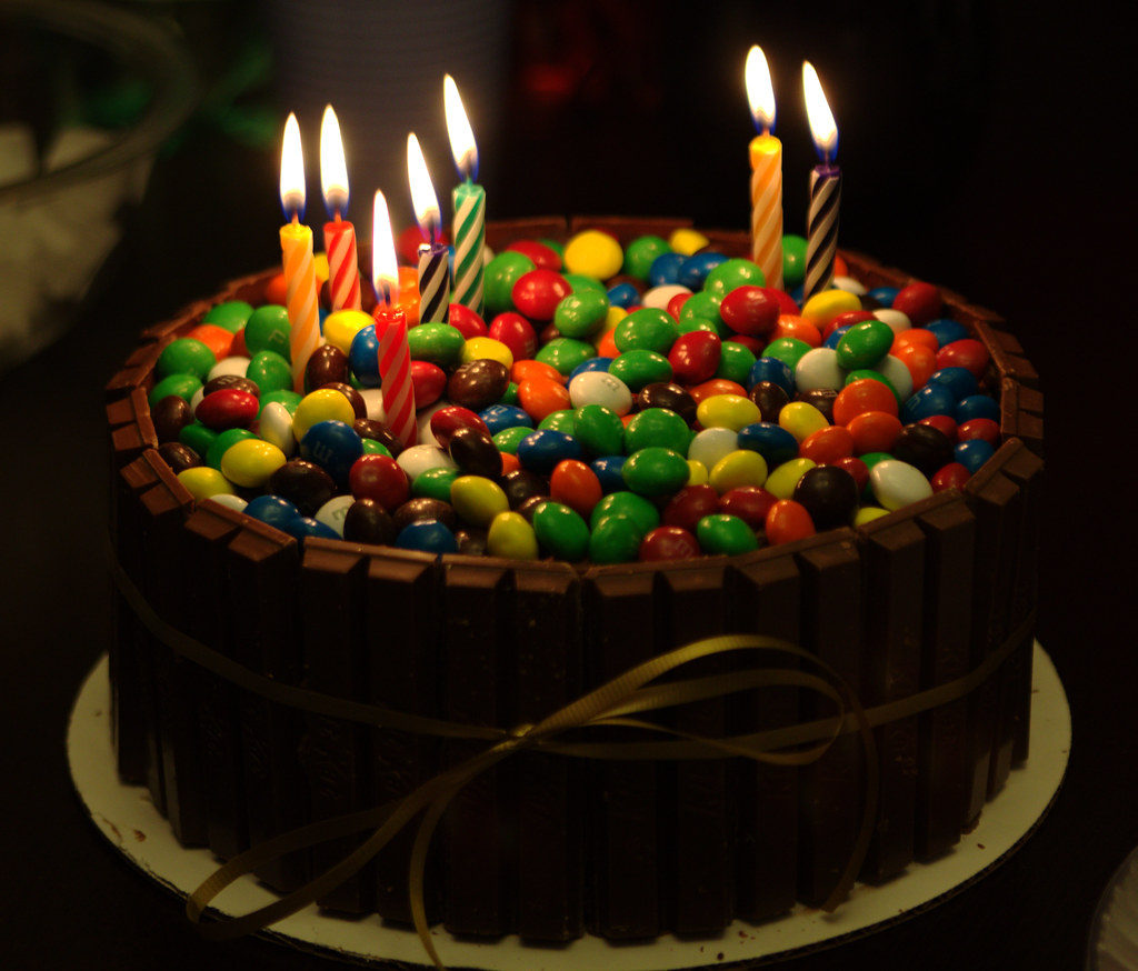 Kit Kat Cake With Candles Mark M Flickr