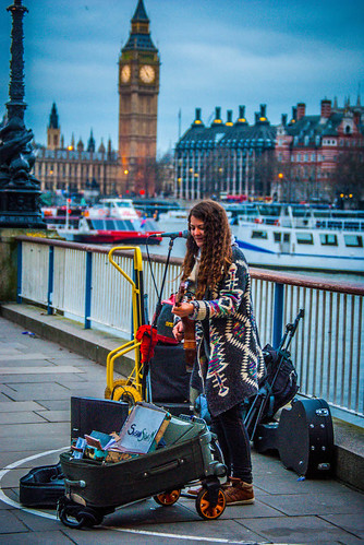 Busking Along the Thames