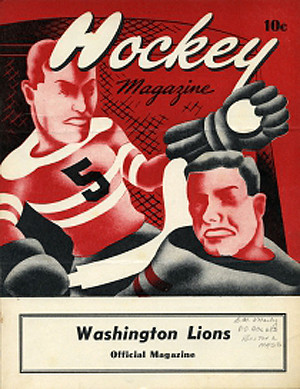 Washington Lions 1952-53 program