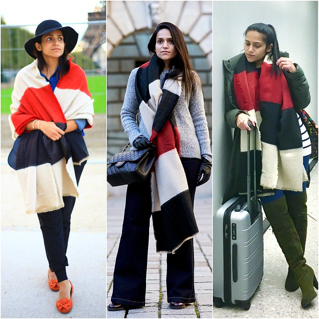 Three Ways To Style Blanket Scarf Tanvii.com