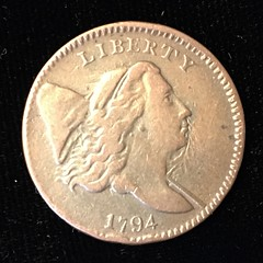 1794 half cent obverse