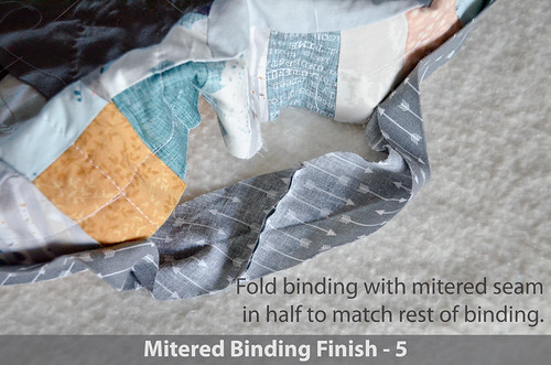 DWR:: Mitered Binding 5: Fold now mitered-seam binding in half